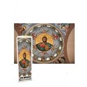 Mini quebra-cabeça Jesus Cristo de 120 peças arte religiosa
