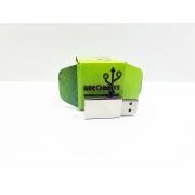 Pen drive Ecológico Fit Colors Prata 8 GB - Linha rECOdrive
