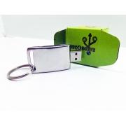 Pen drive Ecológico Fit Elegance Cromado 8 GB e 16 GB - Linha rECOdrive