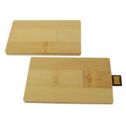 Pendrive Cartão de madeira (bambu) - 4 GB, 8 GB e 16 GB