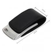 Pendrive Couro Preta cromado  C203 8 GB