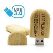 Pendrive de madeira (bambu) MM305 USB 3.0 - 8 GB e 32 GB - 10 peças
