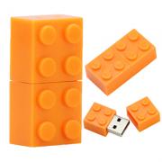 Pendrive Lego Blocos 8 GB laranja
