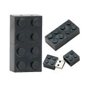 Pendrive Lego Blocos Preto de 16 GB