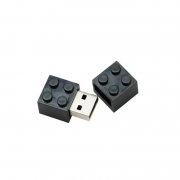 Pendrive Lego Blocos Preto  de 8 GB - 30 peças - Ponta de estoque