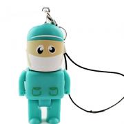 Pendrive Mini médico Verde 4GB, 8GB e 16 GB