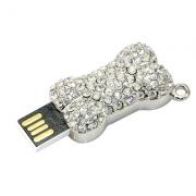 Pendrive Osso com brilhantes de 8 GB