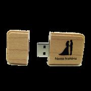 Pendrive madeira para Casamento 8 GB