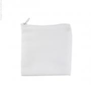 Porta Moedas 10,5 x 10,5cm com Zíper Branco