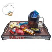 Presente Dia das Mães - Surpresa com Chocolates + pulseira personalizada