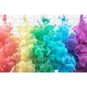 Quadro Decorativo Colorido Quebra-cabeça 165 Peças