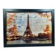 Quadro Decorativo Emoldurado Quebra-cabeça Paris de 165 peças