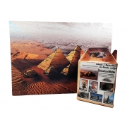 Quebra-cabeça 7 Maravilhas do Mundo - Pirâmides de Gizé - 300 peças
