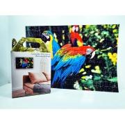 Quebra cabeca  Araras coloridas de 165 peças + chaveiro