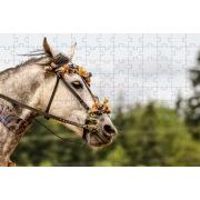 Quebra-Cabeça Cognitivo Reabilitação para Idosos - Tema Cavalos - 48 peças