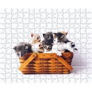 Quebra Cabeça Gatos Filhotes de 252 peças MDL01 + Chaveiro presente