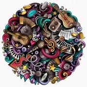 Quebra-cabeça Importado Redondo - A Música - 1000 Peças