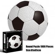 Quebra-Cabeça Importado Redondo - Bola de Futebol - 1000 peças