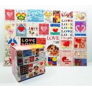 Quebra Cabeça Namorados Lovers de 165 peças + Chaveiro presente
