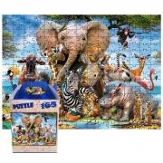 Quebra-cabeça Puzzle Infantil Jovens Bichos de 165 peças