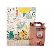 Quebra-Cabeça Puzzle Minha Bike 165 peças - Coleção Art Bike  + Toalha