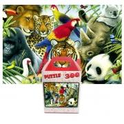 Quebra-cabeça Puzzle Pintura Animais Selvagens de 300 peças