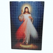 Quebra-Cabeça Religioso Jesus Misericordioso de 252 peças + Terço Especial