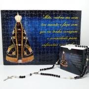 Quebra-Cabeça Religioso Nossa Senhora Aparecida de 252 peças + Terço Especial