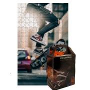 Quebra-Cabeça Skate Manobras Radicais de 300 peças + Chaveiro Presente