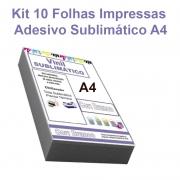 Serviço Impressão Adesivo Vinil Sublimático Impresso Transparente A4