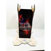 Suporte Headset Now United personalizado + Chaveiro + Caneca autografo