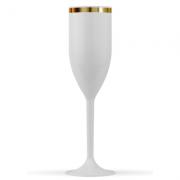 Taça Branca Com Borda Dourada Personalizada 150ml - Cod TC03
