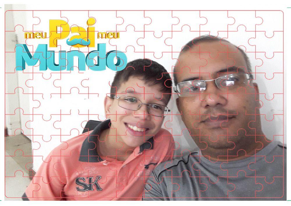 2 Quebra-Cabeça com fotos para dia dos Pais personalizado 90pc