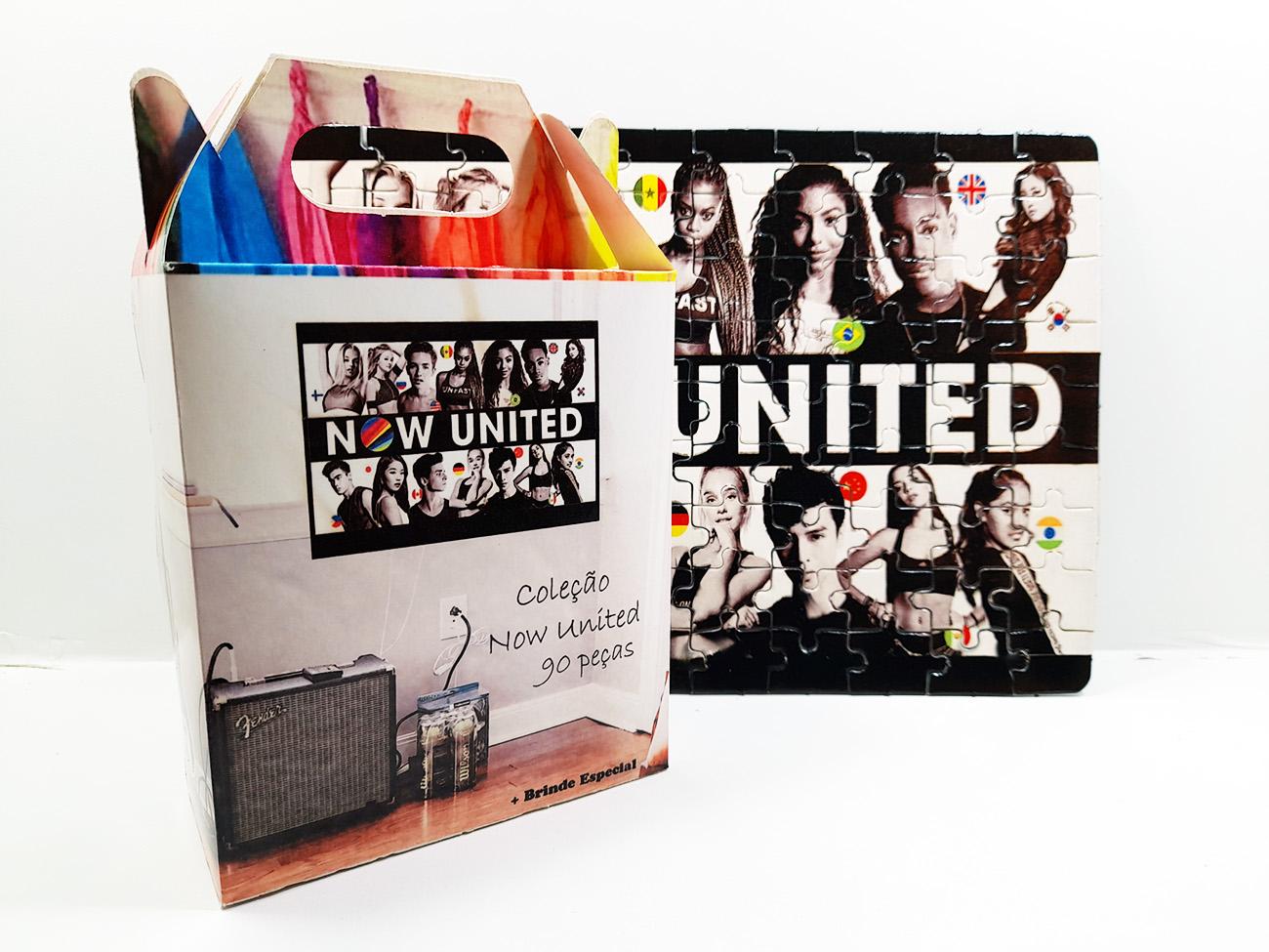 2 Quebra-cabeça para Fãs Grupo Now united color - 90 peças