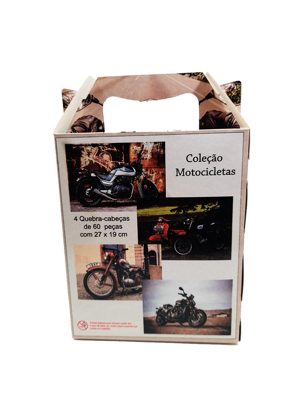 4 Quebra-Cabeça Cognitivo Reabilitação para Idosos - Motocicletas de 24, 48 ou 60 peças