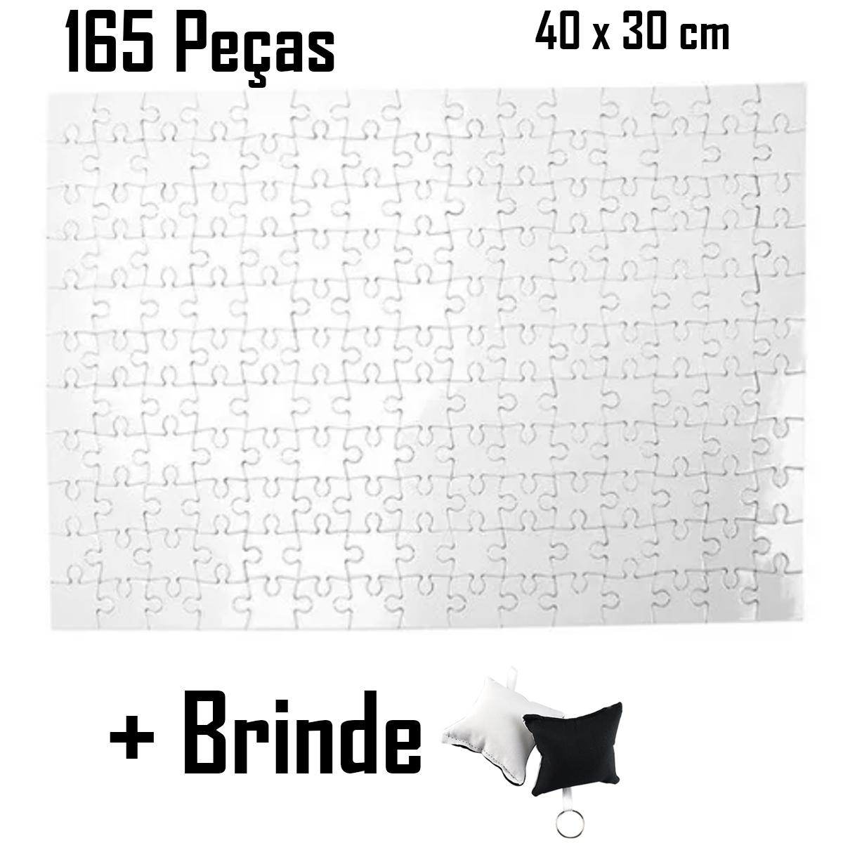 5 Quebra Cabeça Resinado Para Sublimação 165 Peças A4 SJC + Brinde