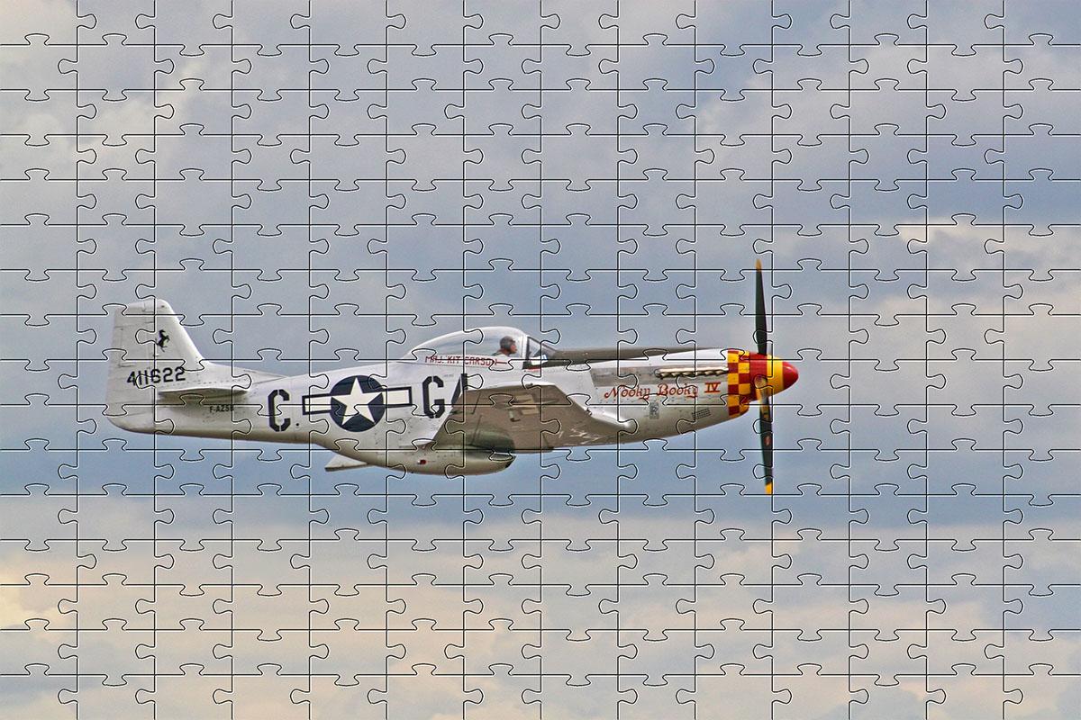 5 quebra-cabeças Aviões de guerra cognitivo para idosos 60 peças
