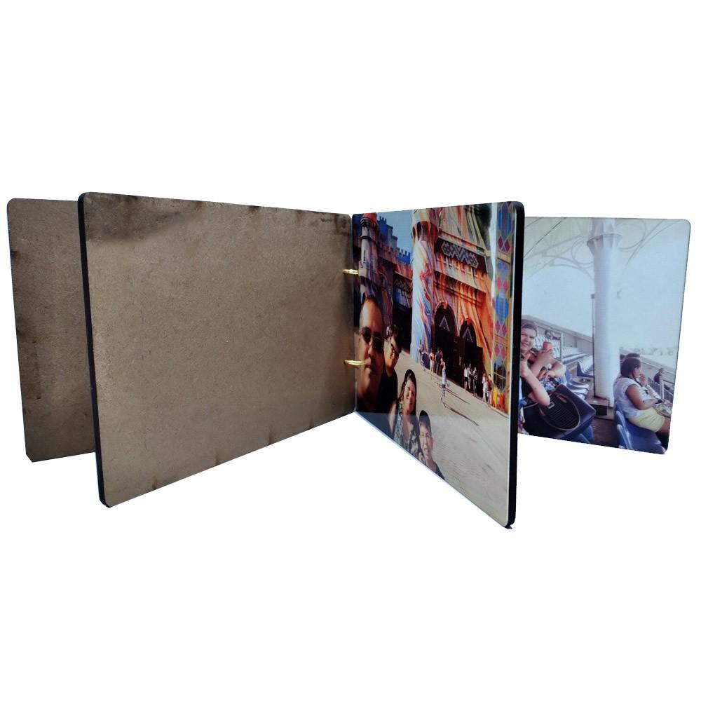 Álbum de Fotos personalizado em MDF - Lançamento Exclusivo