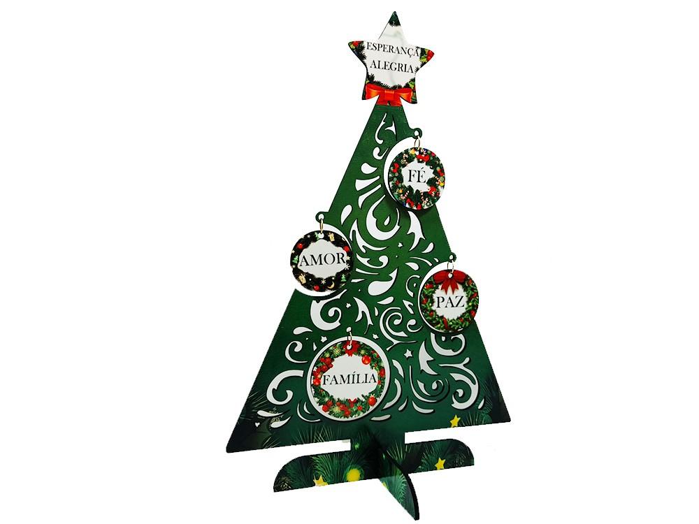 Arvore de Natal em MDF personalizada com palavras