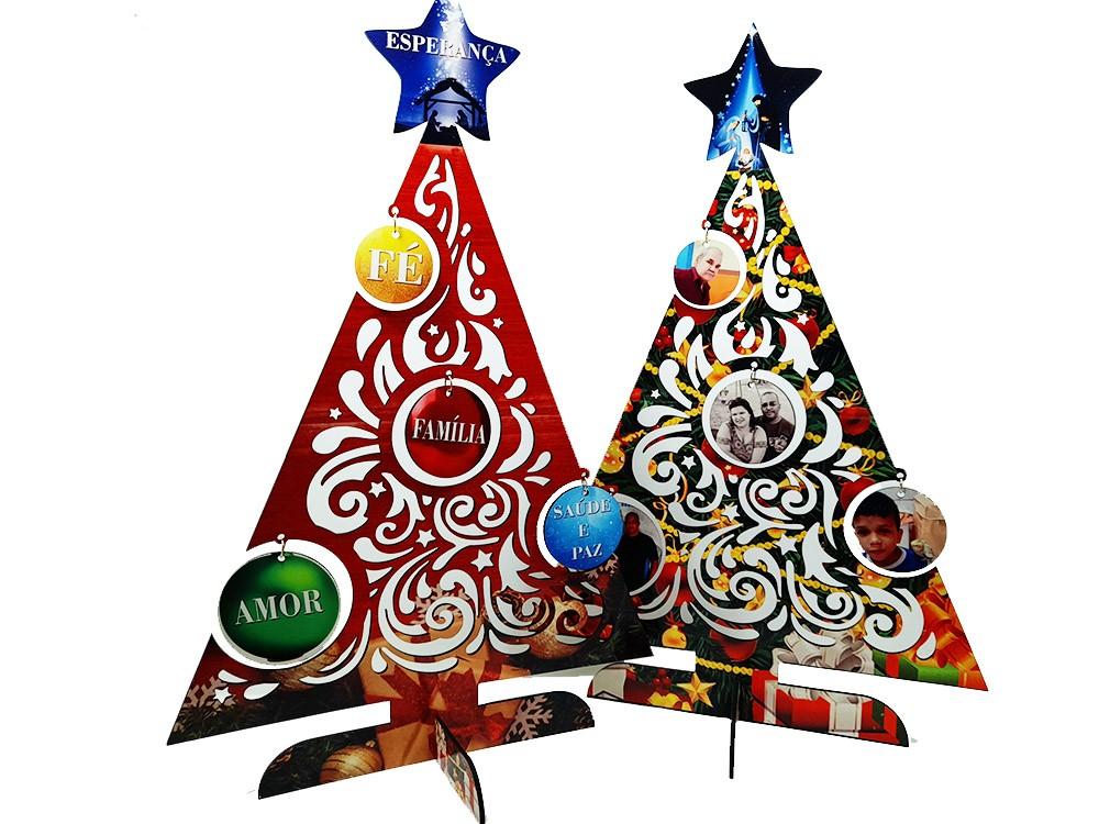 Arvore de Natal Jingle em MDF personalizada com fotos