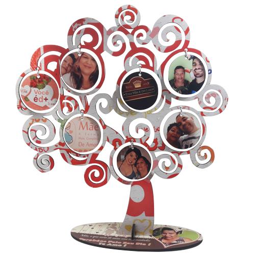 Árvore personalizada com Fotos Família Dia das Mães + Brinde Especial