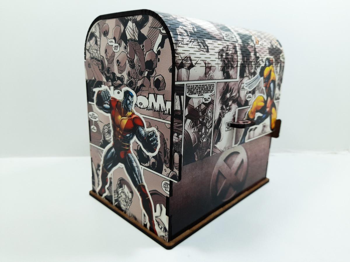 Bau Personalizado X Men Heróis Presente Dia dos Pais Nerd