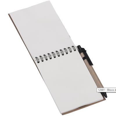 Bloco de anotações com caneta - Cod 12681 - 30 peças