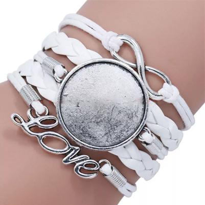 Bracelete Love para Sublimação - 13 peças