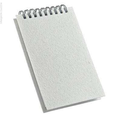 Caderneta de Rascunho 100 Folhas Capa Pet