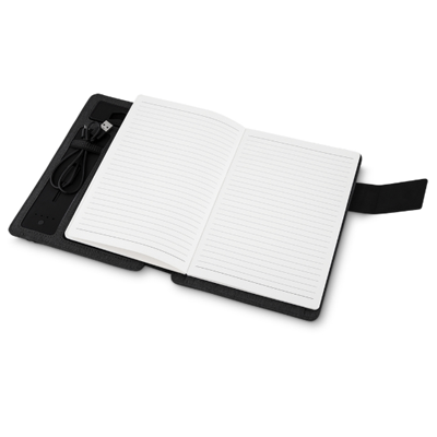 Caderno power bank e compartimentos - Cod 14038