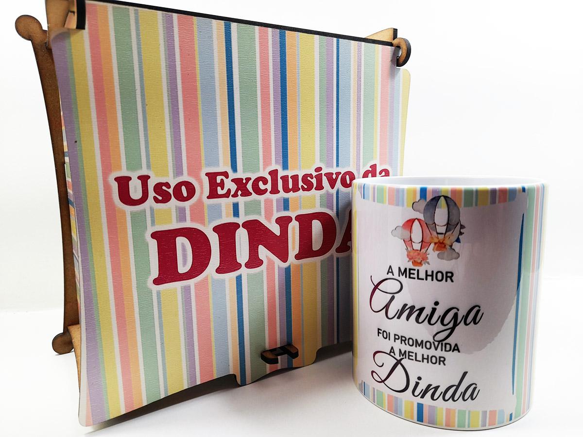 Caixa Convite Madrinha Personalizada com caneca
