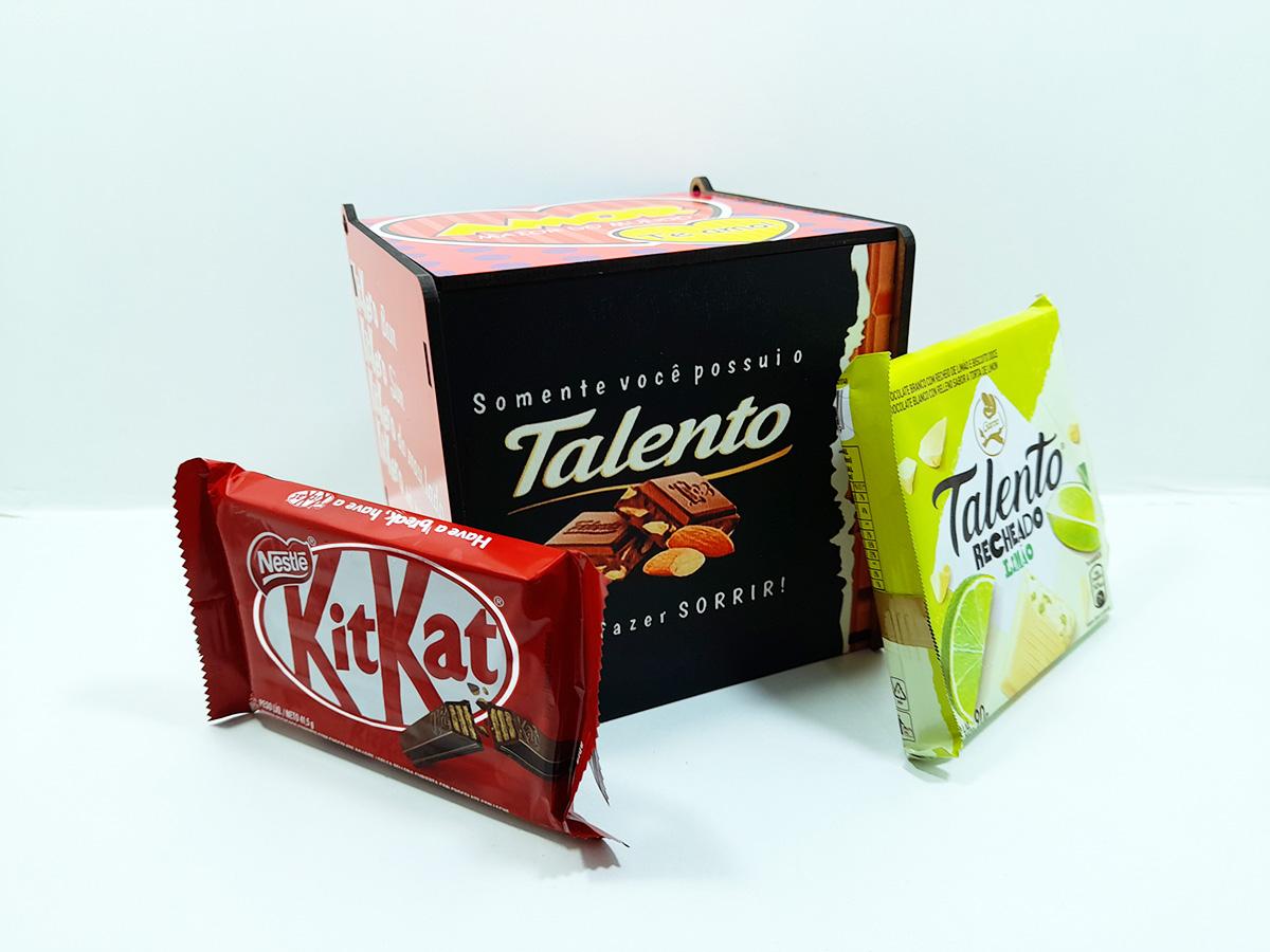 Caixa de chocolates Presente Dia dos Namorados Amo Você e Chocolate
