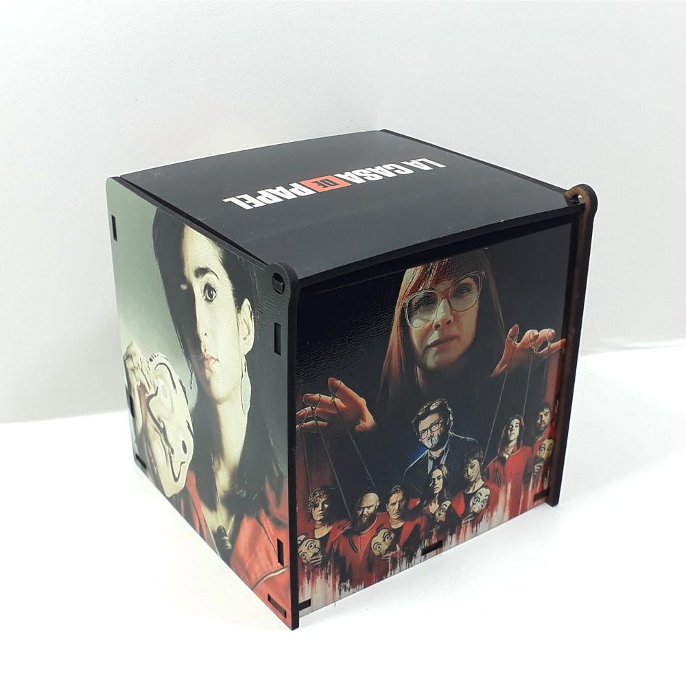Caixa de MDF personalizada seriado La Casa de Papel