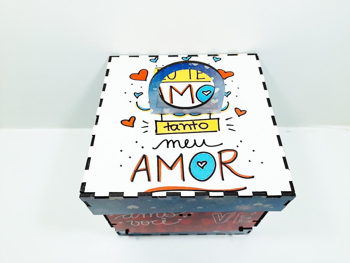 Caixa Explosão de Amor Presente Dia dos Namorados